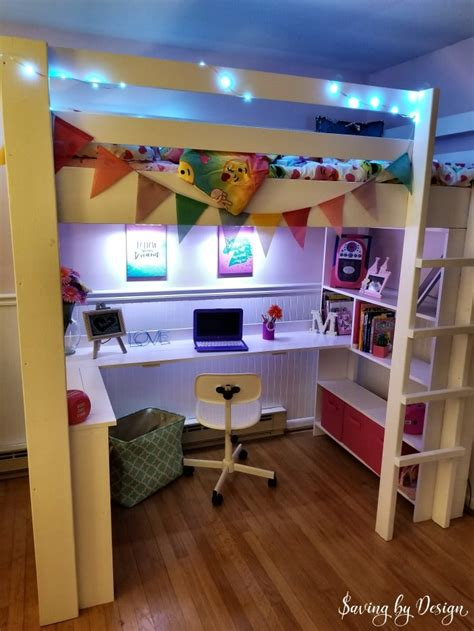 diy bed desk how to build a loft bed with desk and storage diy loft bed with desk
