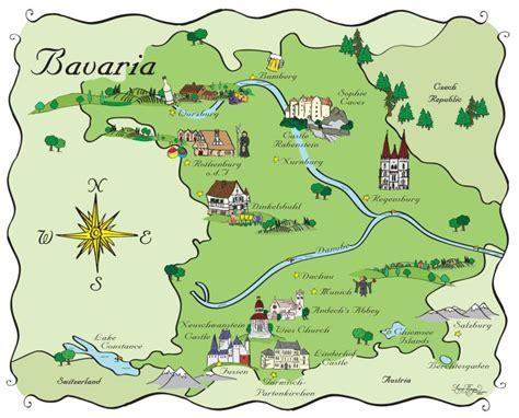 bavaria germany map bavaria germany map