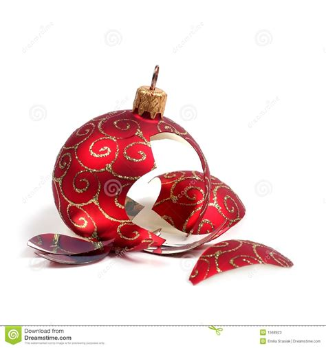 broken christmas ball stock photos image 1568923