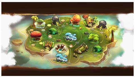 design game map island map characters art critter crunch