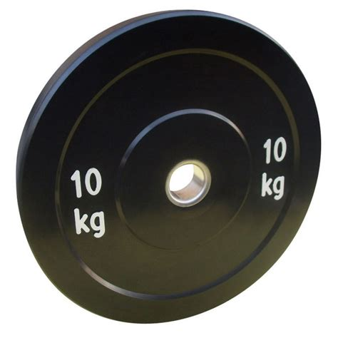 Olahraga Fitness Senam Rubberized Weight Plate 10kg power 10kg solid rubber olympic disc weight plate x1