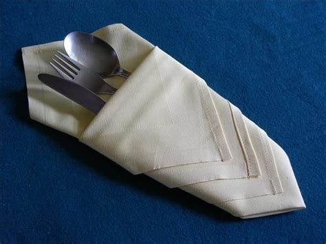 serviette napkin folding pouch make in advance