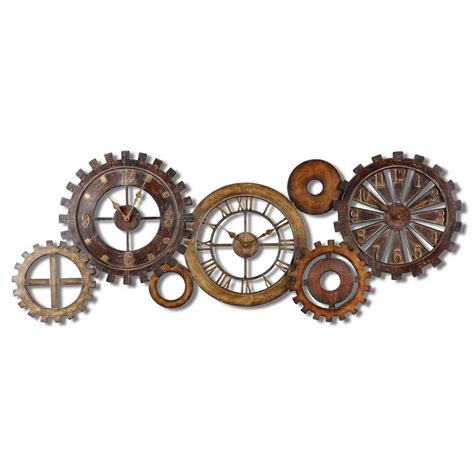 Eccentric Home Decor by Uttermost Spare Parts Clock 6788