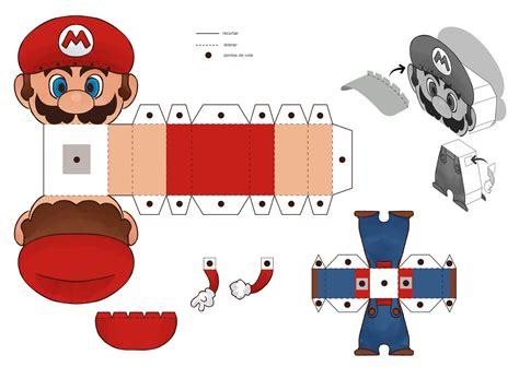 Mario Papercraft - mario mascot free paper