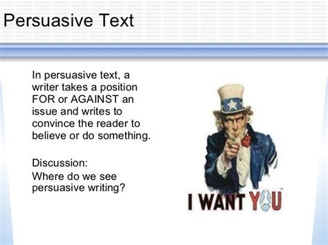 Writing An Argumentative Essay Powerpoint by Persuasive Writing Powerpoint
