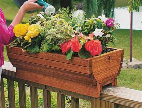 patio railing planters dress up your deck or patio cedarbrook