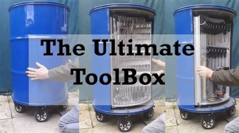 the ultimate toolbox toolbox made of a barrel