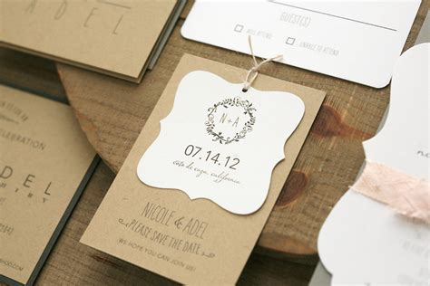 wedding tags rustic wedding favor tags