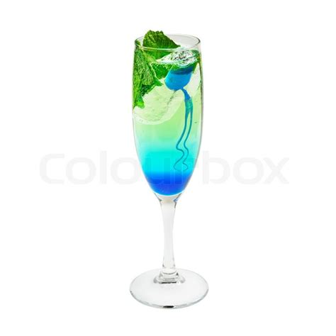 blue cocktails layered cocktail blue and green stock photo colourbox
