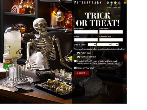 Pottery Barn Sweepstakes - pottery barn trick or treat sweepstakes