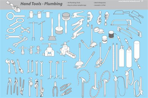 Plumbing Tools And Their Uses by Handheld Plumbing Tools Objects On Creative Market