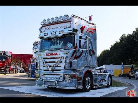 Sticker Tuning Poid Lourd by Scania R730 V8 Sound Tuning Truck Show 2016 Misano