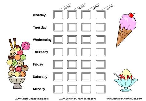 superstar weekly reward chart printable also available boys