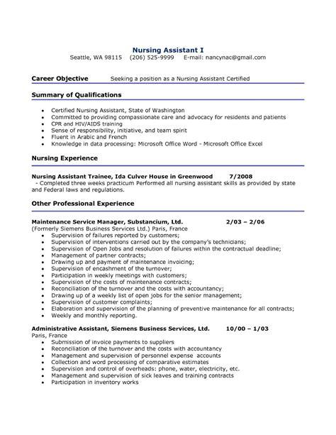 resume samples of cna resumes stunning resume for cna resume cna