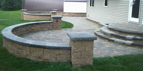 Patio Designs Using Pavers Paver Patio Steps Leading Edge Landscapes