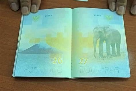 paspor indonesia desain baru foto