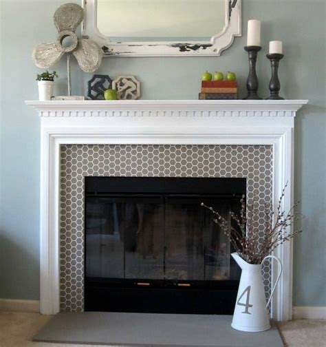 fireplace with glass cover home decor