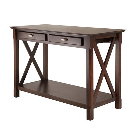 Entryway Table With Drawers Winsome Wood 40544 Xola Console Entry Table With Drawers Atg Stores