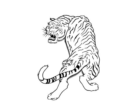 tiger tattoo outline designs plain outline tiger design tattooimages biz