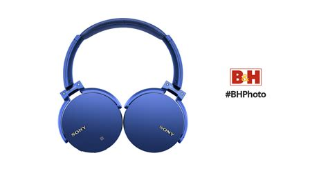 Headset Sony Bass Bluetooth Headphone Mdr Xb950b1 Blue sony xb950b1 bass bluetooth headphones blue mdrxb950b1 l