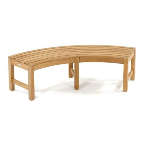 backless benches for sale buckingham teak backless curved bench on sale