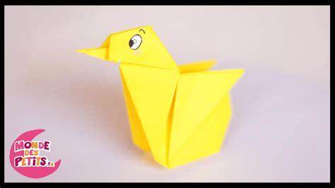 le origami origami le poussin en papier