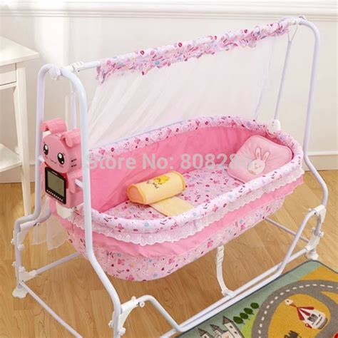 bed shaking brand new baby crib shaking bed bule and pink infant