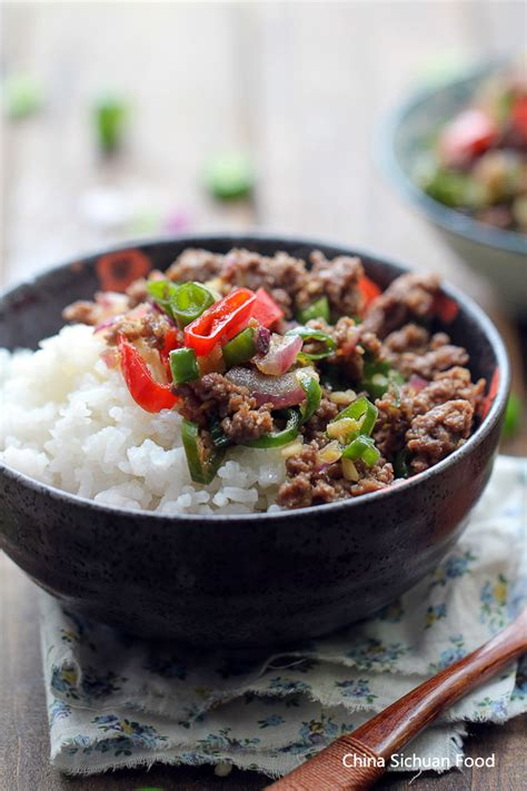 bowl dish recipes ground beef rice bowl china sichuan food