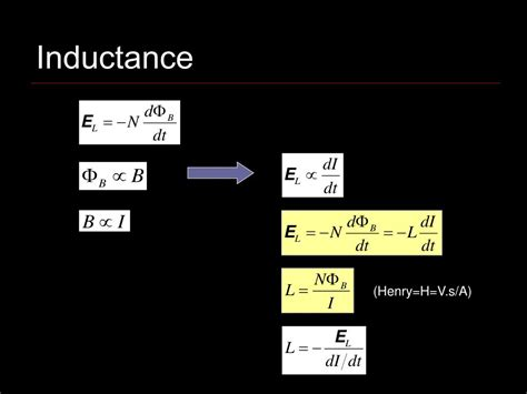 an inductor l of inductance ppt inductance powerpoint presentation id 726757