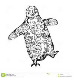pingouin mignon page antistress adulte de coloration