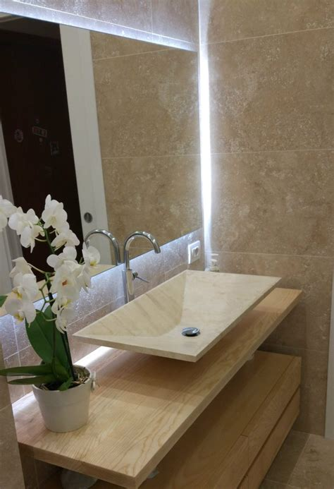 lavandino bagno pietra arredare il bagno in stile moderno lavabo e rivestimenti