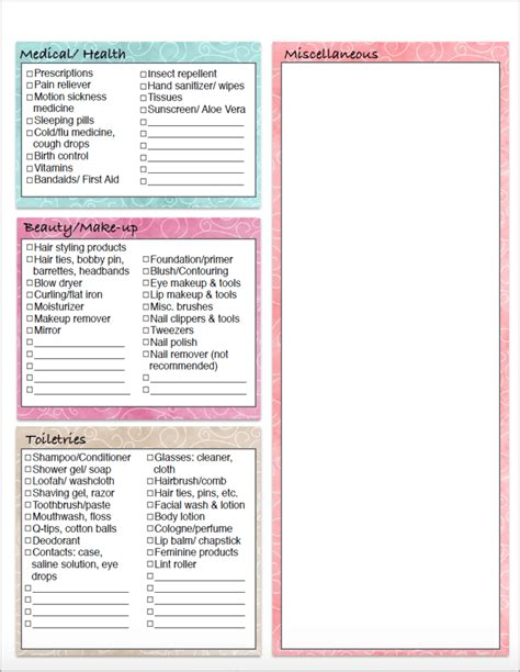 printable holiday packing list 2015 free printable vacation clothing planner day night