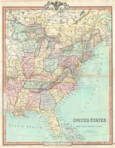 1850 united states map united states with lower canada geographicus