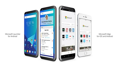 android edge announcing microsoft edge for ios and android microsoft launcher windows experience
