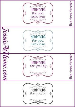 Handmade For You Labels - 46 best images about care labels on gift