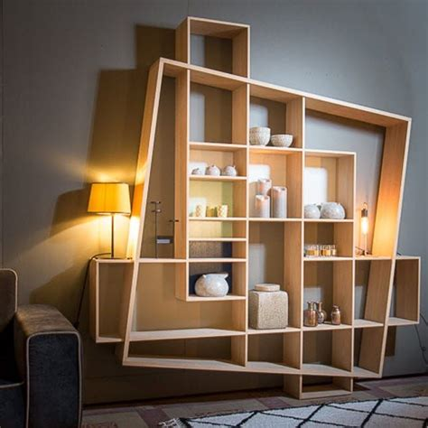 contemporary shelving modular shelf contemporary oak frisco by hugues weill