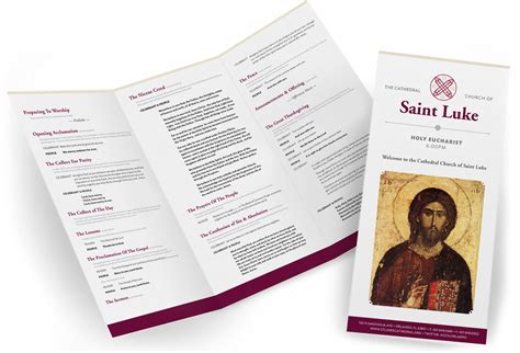 Modern Church Church Bulletins And Brochure Template On Pinterest Contemporary Church Bulletin Templates