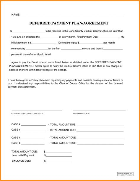 Patient Payment Agreement Letter 12 Payment Plan Agreement Musicre Sumed