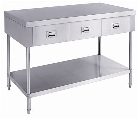 stainless steel table with drawers heavy duty stainless steel kitchen work table with 4