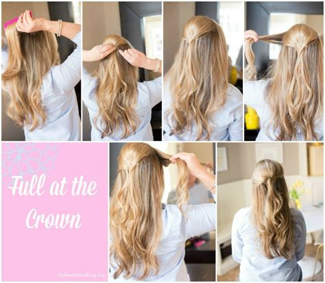 getting fullness on the hair crown 5 minute hair easy styles for busy mom