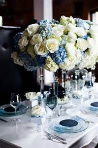 blue hydrangea wedding centerpieces centerpieces with white roses blue hydrangea and