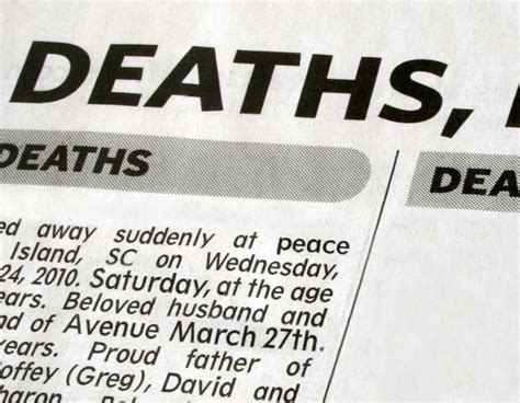 newspaper layout person death notice templates and obituary templates everplans