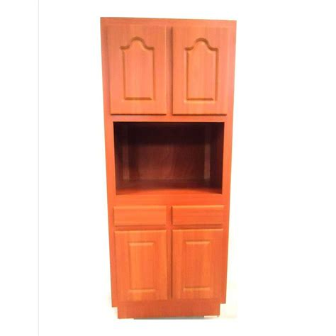 30 Pantry Cabinet by Metalarte 30 In Laminate Cherry Microwave Pantry Cabinet