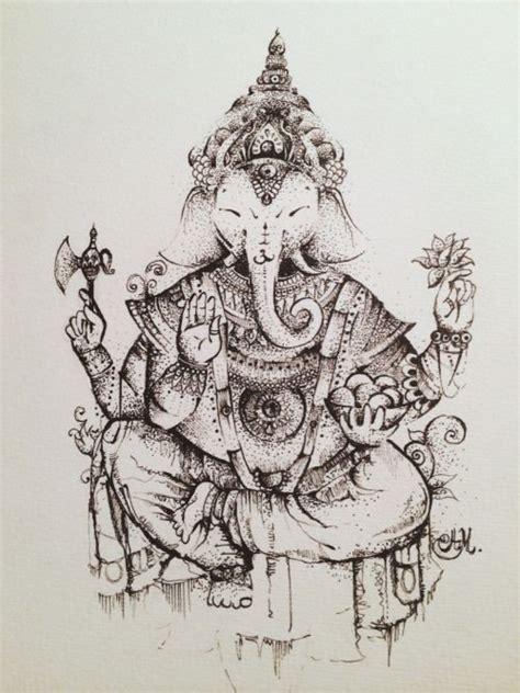 tattoo ink india illustration art black and white design boho elephant soul