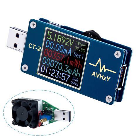 usb test avhzy usb power meter tester usb multimeter usb load