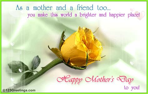 happy mother s day to the best friend heaven sent mothers day cards sayings for friends