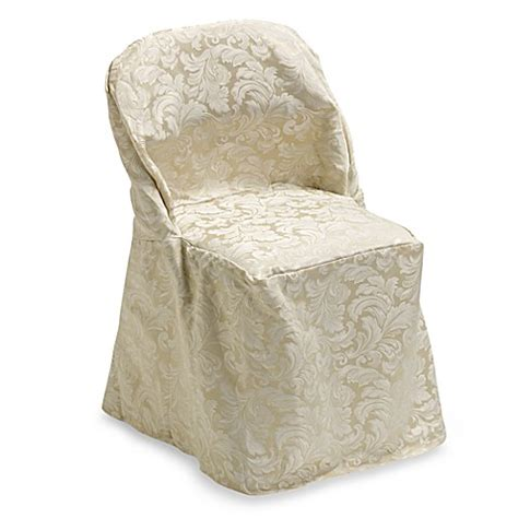 metal folding chair covers buy ashbury scroll folding chair cover from bed bath beyond