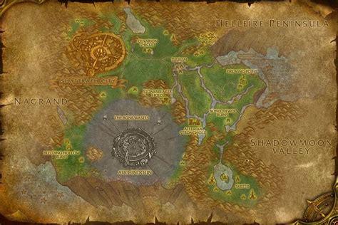 Wow Razorthorn Shelf razorthorn shelf terokkar forest map world of warcraft