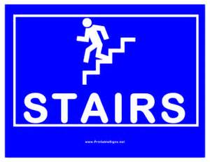 Stairs Sign by Printable Stairs Sign