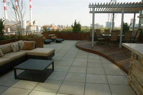 Space For Kitchen Island roosevelt island rooftop terrace urban landscape design